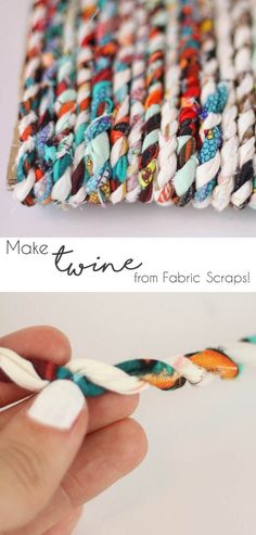 How to make Twine from your old fabric scraps! 2019 How to make Twine from your old fabric scraps! The post How to make Twine from your old fabric scraps! 2019 appeared first on Fabric Diy. Fabric Yarn, Fabric Remnants, Fabric Scraps, Chenille Fabric, Fabric Dolls, Upcycled Crafts, Diy Crafts, Homemade Crafts, Felt Crafts