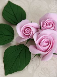 Clay Rose tutorial but same principal could be applied to fondant or gum paste.