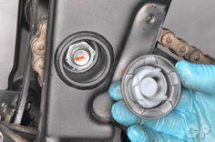 Remove the swingarm pivot nut cap Kawasaki Ninja 250r, Tech Support, Repair Manuals, Atv, Motorcycle, Mtb Bike, Biking, Motorcycles, Atvs