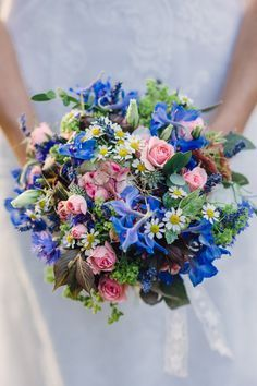 flowers cornflower blue and pink - Google Search