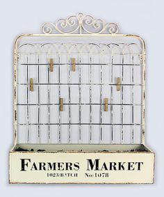 Loving this 'Farmers Market' Metal Gate Flower Box on #zulily! #zulilyfinds