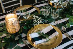 Ruffled - photo by Sarah Libby Photography http://ruffledblog.com/modern-black-and-white-wedding-with-emerald