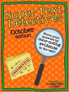 Text Detectives- Find the Text Evidence! 2nd Grade Activities, 2nd Grade Worksheets, Worksheets For Kids, Comprehension Questions, Reading Comprehension, Detective, Short Passage, Workers Day, Text Evidence