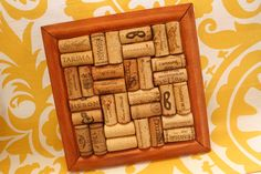 Wine cork trivet or could be made as a hot pad, OR... hang it on the kitchen wall... I KNEW I saved ALL my wine corks for something!