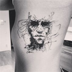 Check out Mesmerizing face tattoo or other abstract side tattoo designs that will blow your mind, tattoo ideas that will be your next inspiration. Face Tattoos, Body Art Tattoos, Cool Tattoos, Piercing Tattoo, I Tattoo, Piercings, Psychedelic Tattoos, Single Needle Tattoo, Tattoo Sketches