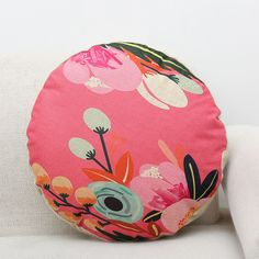 New Retro Round Waist Cushion Cover Throw Covers Pillow Case Home Sofa Car Decor Bedroom Colors, Colourful Bedroom, Style Chinois, Cushions, Pillows, Mandala Coloring, Queen Size Bedding, Cotton Linen, Duvet Covers