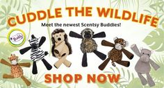 The new Safari collection!! Get your cuddle buddy today! https://whatswarming.scentsy.us