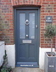 Ideas Victorian Front Door Ideas Bricks For 2019 Teal Front Doors, Double Front Doors, Wood Front Doors, Front Door Entrance, Painted Front Doors, House Front Door, Front Door Colors, House With Porch, Front Porch