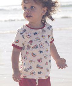 Little Bird by Jools Cream Print T-Shirt - t-shirts - Mothercare