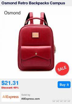 Osmond Retro Backpacks Campus Style Women Leather Backpack Ladies Girls School Shoulder Bags College Bag Mochila Fashion Bolsa * Pub Date: 07:12 Apr 16 2017