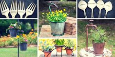Garden product ideas in planning/adding to your garden experience - garden markers. garden decor (art, statues, bird houses/feeders), lighting, fairy gardens
