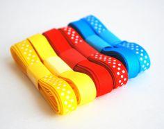 New to Mariapalito on Etsy: Basic Ribbon Grosgrain Ribbon Set Basic Colors Ribbon solid and Polka dots (18 yards)  A622 (4.75 USD)