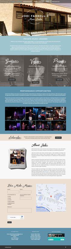 Jodi Farrell's Music Studio full website layout.