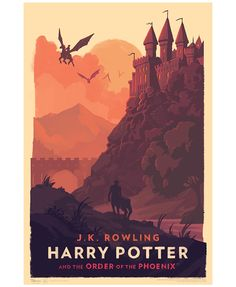 Beautiful #HarryPotter Art Prints and Covers Created by Olly Moss for German Audio Book Series