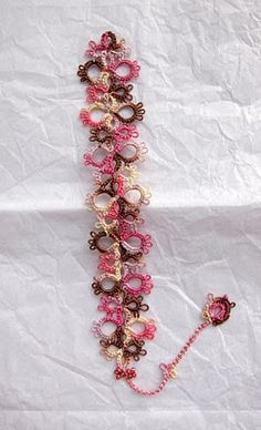 tatting - pattern here: http://janeeborall.blogspot.com/2009/03/bookmarks-from-jane-in-south-africa.html
