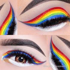 love wins every time  Eye Art by the talented @myth_cosmetics using #ParadiseMakeupAQ by #MehronMakeup #AquaMakeup #WaterActivatedMakeup #Vegan #LoveWins #MehronArt #ExtremeBeauty #MehronMakeup #rainbow
