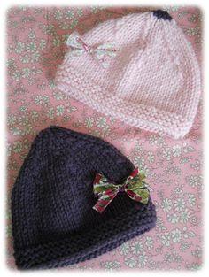 7750c6ea1e4d Tutos tricot pour bébé. Tricot Bonnet NaissanceTricot Bébé FacileTricot ...