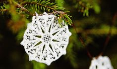 Christmas lace ornaments for the Holiday