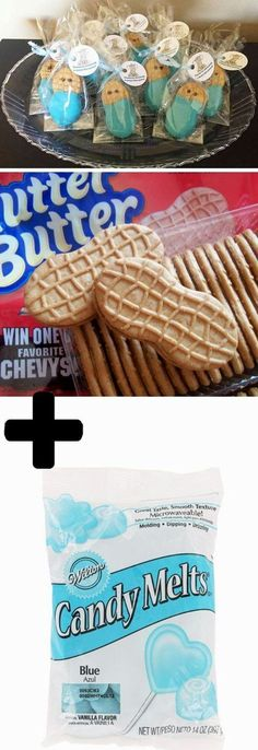 Nutter Butter Babies | 21 DIY Baby Shower Party Ideas for Boys that will make you go goo goo!