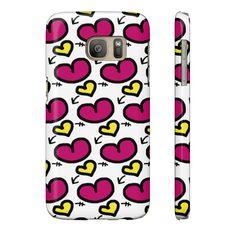 Cute Hearts Kids Doodle Phone Case