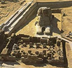 Sphinx and temple, Giza, Egypt Ancient Ruins, Ancient Art, Ancient Egypt, Ancient History, Egypt Art, Giza Egypt, Ancient Architecture, African History, Ancient Civilizations