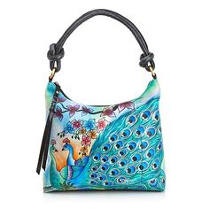 Shop Sharif Small Limited Edition Handpainted Leather Hobo at HSN mobile