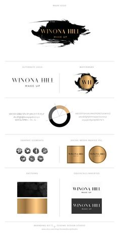 We are thrilled to present you our new premade watercolor logo design and branding kit for photographers, boutique businesses, bloggers, interior designers... in black gold style and handwritten gold script style font . Includes logo, alternate logo, photography watermark stamp and