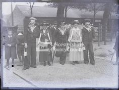 """""""LEICESTER - MILL LANE Strongroom Stack 25 Leicester 2 men in uniform working at carpenters table, indoors Glass plate negative Negatives Collection, Leicestershire Record Office Baden Powell, Men In Uniform, General Hospital, Sailors, Leicester, Wwi, Plate, Dishes, Plates"""