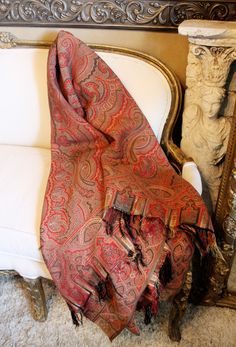 19th C paisley shawl