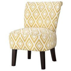 LIVING ROOM - Threshold™ Rounded Back Chair - Summer Wheat Diamond Ikat (or something similar. I love an accent chair! Wayfair Living Room Chairs, Accent Chairs For Living Room, Desk Chair Target, Chair Bows, Accent Chairs Under 100, Leather Dining Room Chairs, Leather Chairs, Dining Chairs, Most Comfortable Office Chair