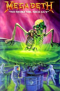 80s classic - one of Ed Repka's greatest artworks for Megadeth. Toxic waste, radioactive slime / ooze with Vic again being the bringer of nuclear death. Damn I loved (and still do) this kind of imagery!
