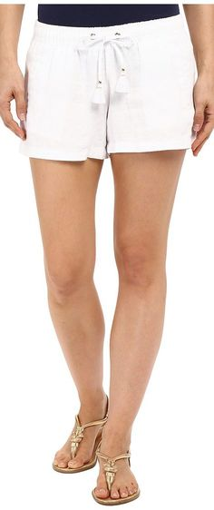 Lilly Pulitzer Beach Shorts (Resort White) Women's Shorts - Lilly Pulitzer, Beach Shorts, 20481-115, Apparel Bottom Shorts, Shorts, Bottom, Apparel, Clothes Clothing, Gift - Outfit Ideas And Street Style 2017