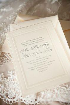 Our invites.. Simple & elegant. #wedding #invites