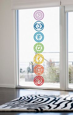 CHAKRAS Vinyl Stickers set of 7 colored cut out by NewAgeStickers