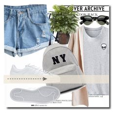 """""""Untitled #197"""" by dianagrigoryan ❤ liked on Polyvore featuring Anja, Joshua's, adidas, Nearly Natural, vintage, women's clothing, women, female, woman and misses"""