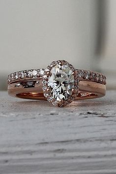 Engagement Ring That Was Created For A Special Bride ❤️ engagement ring gold solitaire cathedral diamond pave band twisted ❤️ See more: http://www.weddingforward.com/engagement-ring/ #wedding #bride #engagementring