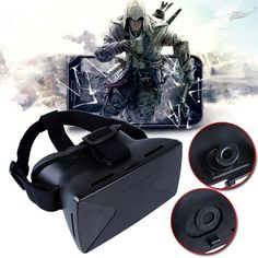 """Virtual Reality VR 3D Glasses for Samsung iPhone 4.7 5.5 6.5"""" Google Cardboard"""