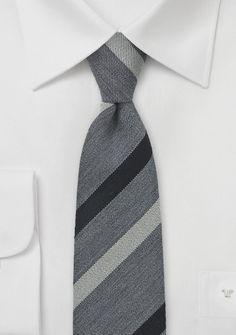 Trendy Skinny Tie in Gray and Black