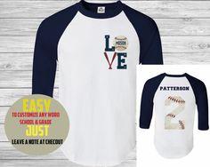 Baseball Tee,(custom Name and number ) Womens Baseball T-Shirt . man Baseball TShirt  , Gym T-Shirt , Training T-Shirt. Sports Mom dad by PortPrint1 on Etsy https://www.etsy.com/listing/252458222/baseball-teecustom-name-and-number Baseball Boys, Baseball Tshirt Ideas, Custom Baseball Tees, Baseball Tees For Women, Baseball Stuff, Baseball Crafts, Softball Mom, Softball Shirts, Baseball Clothes