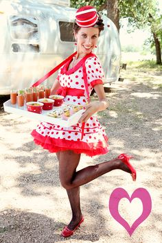 have a cigarette girl serve your appetizers! Halloween Costumes For Work, Halloween Circus, Circus Costume, Halloween Movies, Halloween 2018, Halloween Ideas, Happy Halloween, Carnival Themes, Circus Theme