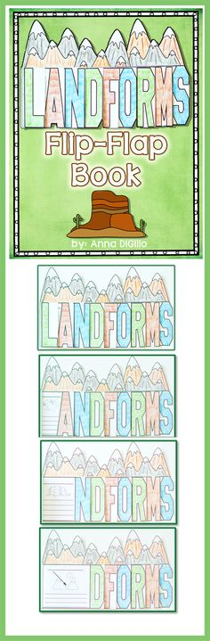 LANDFORMS = FUN!!!!! Check out my newest Flip-Flap Book on Landforms. Try something different and Interactive!$