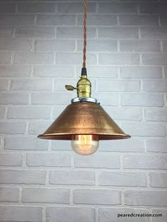 brooklyn vintage small metal dome pendant light brass 8 inch copper vintage and minis
