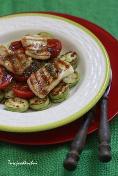 Turcja od kuchni: Grilowane warzywa z serem hellim/halloumi