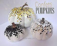 confetti pumpkins, crafts, halloween decorations, seasonal holiday d cor