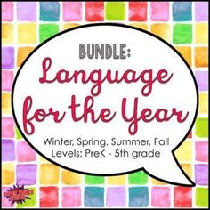 This bundle covers all of your language needs for the entire year. Hundreds of pages and so many activities. The best purchase you can make all year. Speech Therapy Activities, Language Activities, Snow Much Fun, Language Development, 5th Grades, Teacher Newsletter, Teacher Pay Teachers, Lesson Plans, All About Time