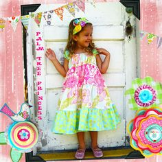 PINK ICE - Tiered Twirly Dress -- Available in sizes 6m 12m 18m 2T 3T 4T 5 6 7 8 10 12. $45.00, via Etsy.