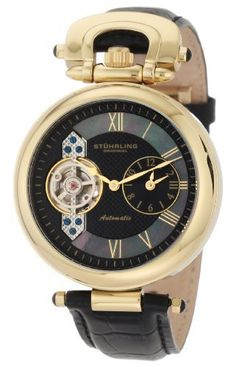 Stuhrling Original Men's 127.33351 Special Reserve Emperor Automatic Skeleton Dual-Time Zone Watch Stuhrling Original. $199.99. Dual time zone indication with open heart complication and 20 jewels. Hydraulically stamped open heart Argentè Guillochè dial with mother of pearl inlay. Water-resistant to 330 feet (100 M). Quality automatic movement; functions without a battery; powers automatically with the movement of your arm. Krysterna scratch resistant crystal. Save 72%!