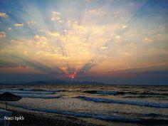 beautiful #günbatımı #akdeniz #mediterranean #kaybettim #gününkaresi #güneşimi #kumsal #deniz #durum #sunset #goodbye #güzelçamlı #güneş #gununkaresi #kuşadası