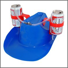 Oh my gosh, this totally beats the beer helmet I want for rafting Man Cave Gear, Country Jam, Partying Hard, Fraternity, Go Camping, Good To Know, Gifts For Him, Cowboy Hats, Drinking