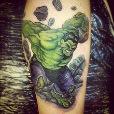 Hulk tattoo by Red, Middlesbrough, UK www.redivytattoos.co.uk